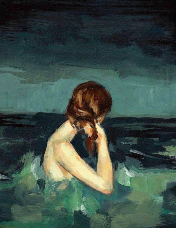 """Mai sfidare una donna e le sue possibilità. È capace di darti tutto finché ci crede, finché può. Ma se pensi di averla in pugno dando per scontata la sua presenza, senza che tu te ne renda conto, l'avrai già persa. _ Mariarca Cacace _ """"Married to the Sea"""" by Clare Elsaesser"""