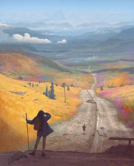 Più ci si eleva e più si è soli, ma sulle cime delle montagne ogni viandante che incontri è un fratello; in città la moltitudine non ha cuore né nome. (Cit.) Immagine reperita nel web.