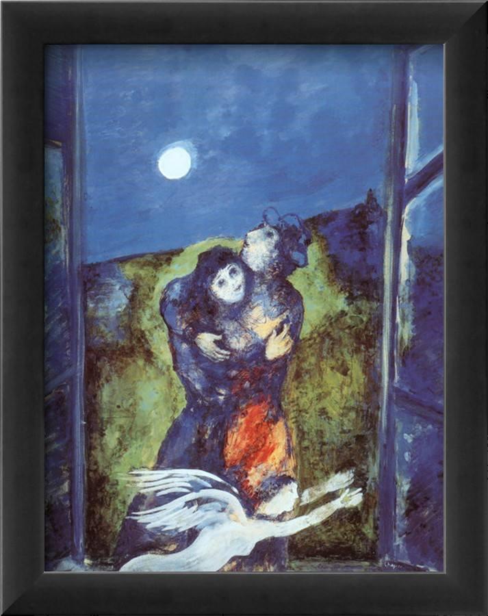 """Né la notte né il sonno poterono separarci. _ Pablo Neruda _ """"Lovers in Moonlight"""" - Marc Chagall"""