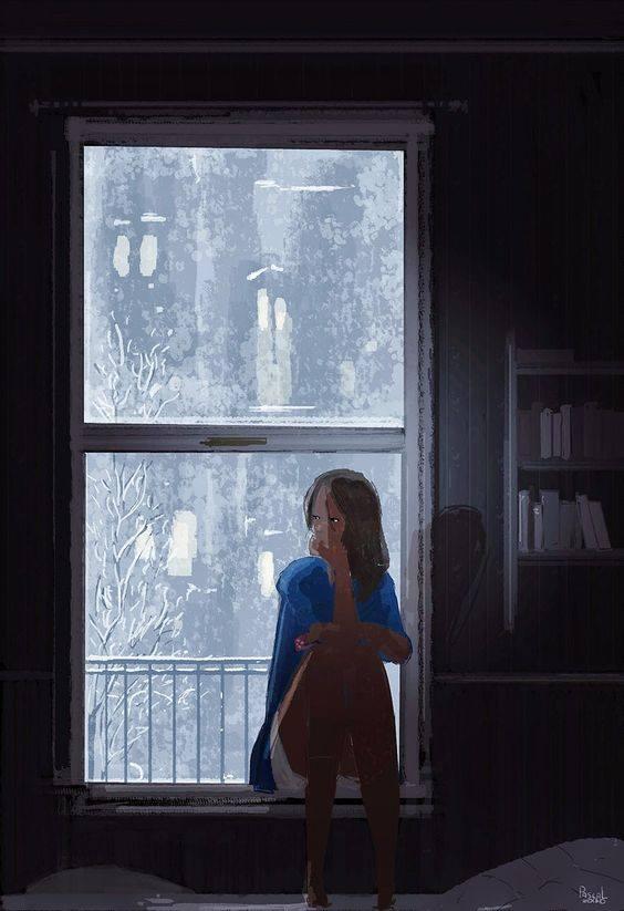 """E visto che a parole non mi salvo, parla per me, silenzio, ch'io non posso. _ Josè Saramago _ """"Tough day"""" di Pascal Campion."""