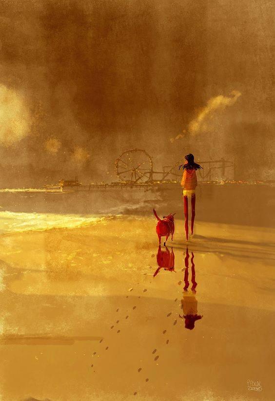 Solo chi è consapevole dell'incertezza dei giorni, può scoprire la vera bellezza di un attimo. _ Claudio D'Aiello _ Illustrazione di Pascal Campion.