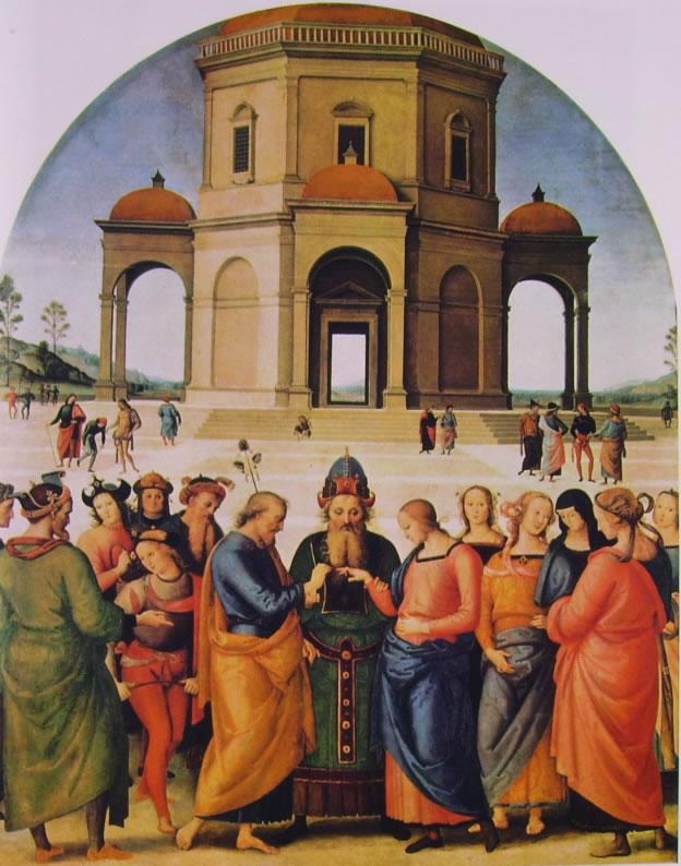 """""""Sposalizio della Vergine"""", il Perugino, 1501-1504"""