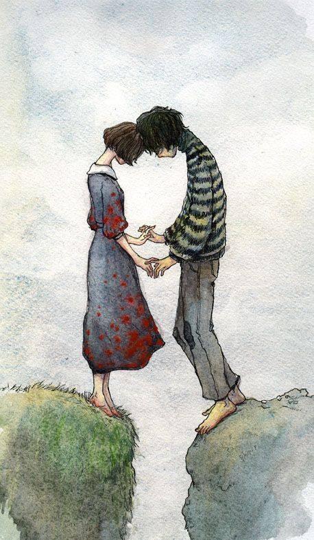 Lo sai, mettersi ad amare qualcuno è un'impresa. Bisogna avere un'energia, una generosità, un accecamento. C'è perfino un momento, al principio, in cui bisogna saltare un precipizio: se si riflette non lo si fa. _ Jean-Paul Sartre _ Immagine reperita nel web.