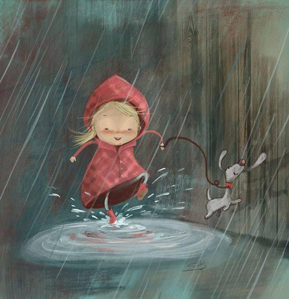 Forse i nostri problemi sono iniziati quando abbiamo smesso di saltare nelle pozzanghere e ci siamo preoccupati di non bagnarci i piedi. _ Brian Hoffman _ Illustrazione di Susan Batori.