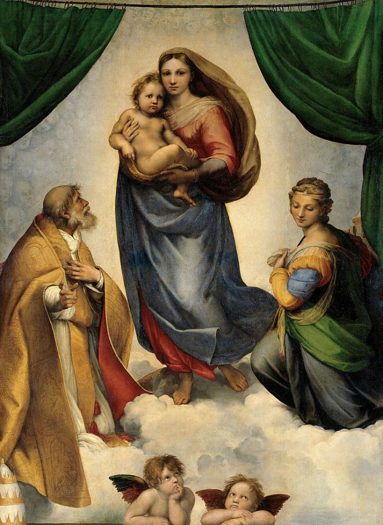 """""""Sacra Conversazione"""" (Madonna Sistina), 1513-1514. Dresda."""