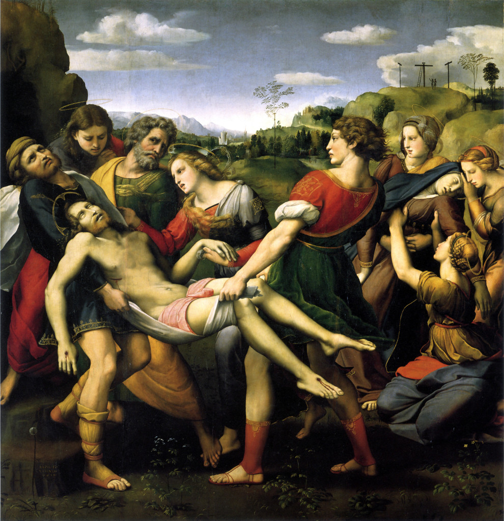 """""""Trasporto del Cristo Morto (Pala Baglioni), 1507. Galleria Borghese, Roma."""