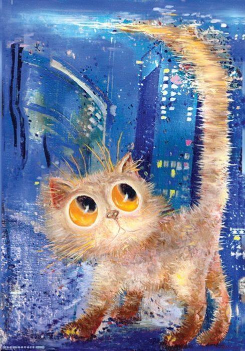 """Rispondere è cortesia. Ma lasciare l'ultima parola ai cretini è arte. (cit.) """"Gato"""" by Boris Kassianov."""