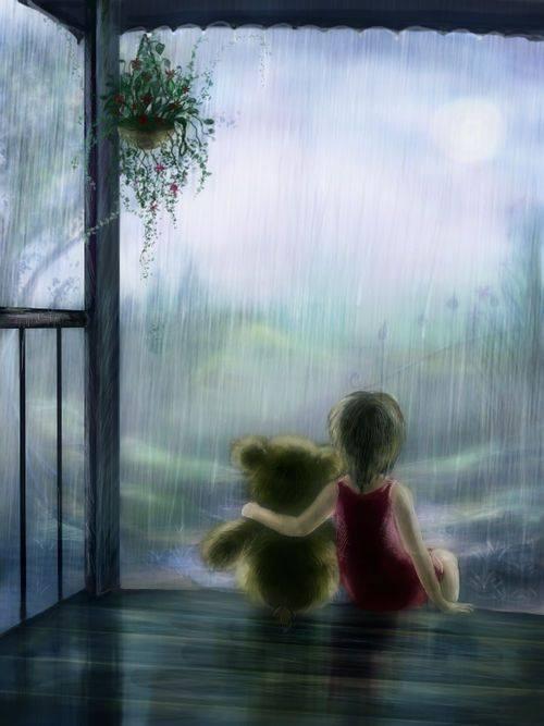 """Sentire di non essere mai compresi veramente. Anche questo è solitudine. _ Giovanni Soriano _ """"Rain"""" by Maria Hobbit."""