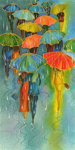 """È facile, nel mondo, vivere secondo l'opinione del mondo; è facile, in solitudine, vivere secondo noi stessi; ma l'uomo grande è colui che in mezzo alla folla conserva con perfetta serenità l'indipendenza della solitudine. _ Ralph Waldo Emerson _ """"Silver Rain"""" by Yelena Sidorova."""