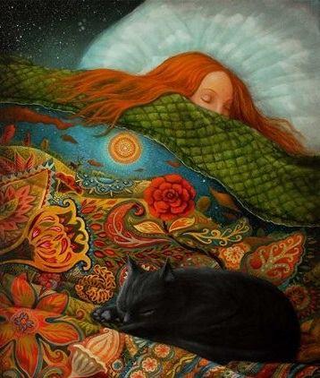"""Sognare permette a ciascuno di noi di essere tranquillamente e veramente folle, ogni notte della nostra vita. _ William Dement _ Fabrice Backès - """"Sleeping No. 3""""."""