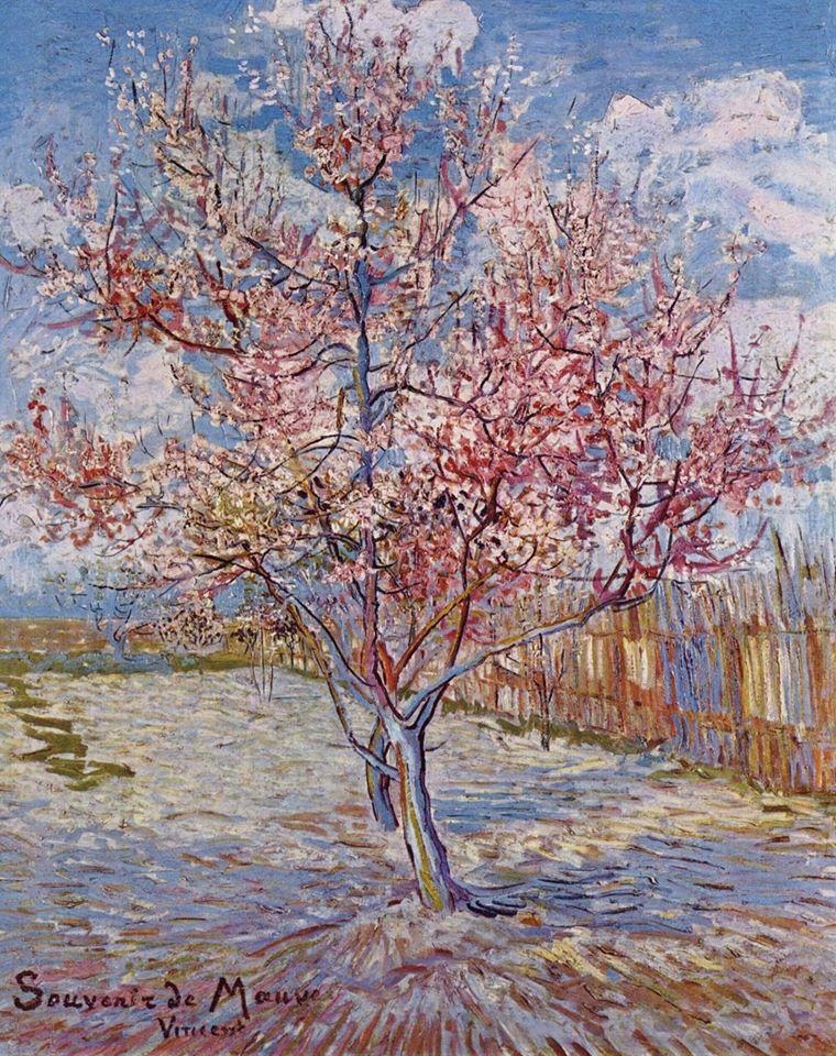 """Sogno di dipingere e poi dipingo il mio sogno. _ Vincent Van Gogh _ Peschi in fiore, """"Souvenir de Mauve"""" – Vincent Van Gogh"""