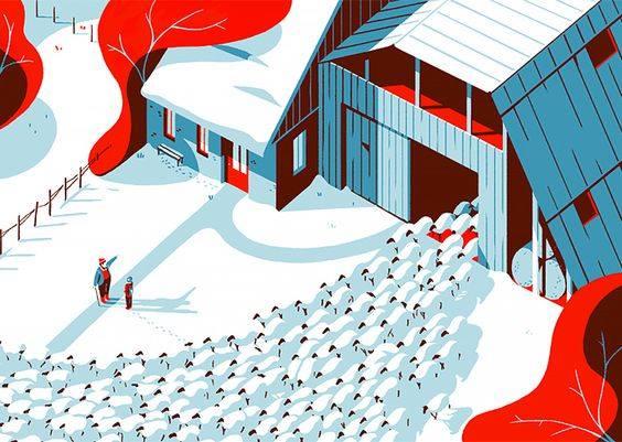 La storia italiana insegna che alla fine, dopo essersi tanto lamentati al bar, su Facebook, per strada ed in ogni luogo, le pecore rientreranno tutte nel loro gregge. (Cit.) Illustrations by Tom Haugomat.