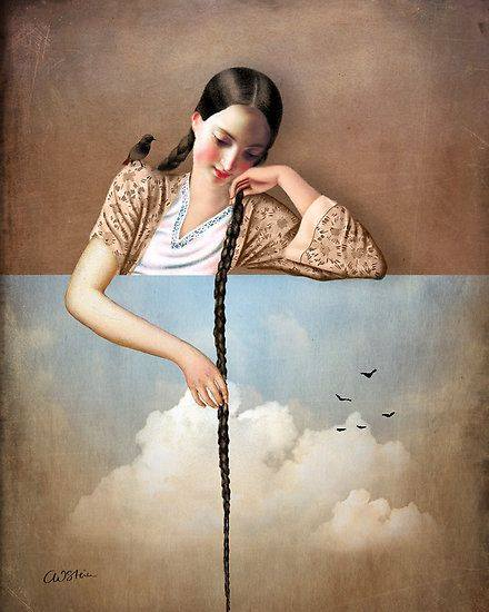 """Il dubbio non è piacevole, ma la certezza è ridicola. Solo gli imbecilli son sicuri di ciò che dicono. _ Voltaire _ """"Touch The Sky"""" by Catrin Welz-Stein"""