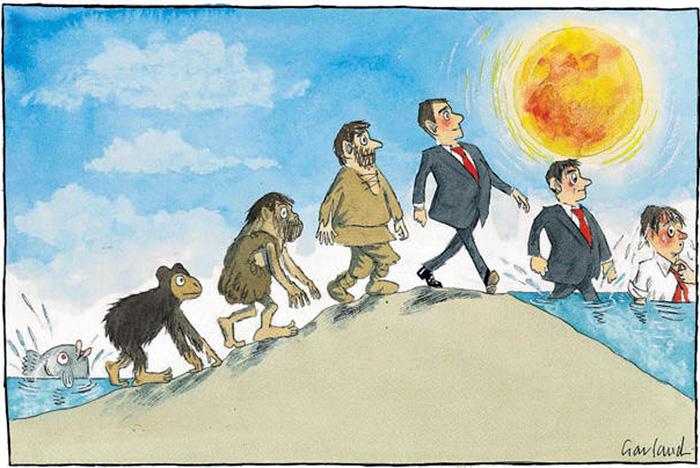 """""""L'evoluzione dell'uomo"""" di Garland"""