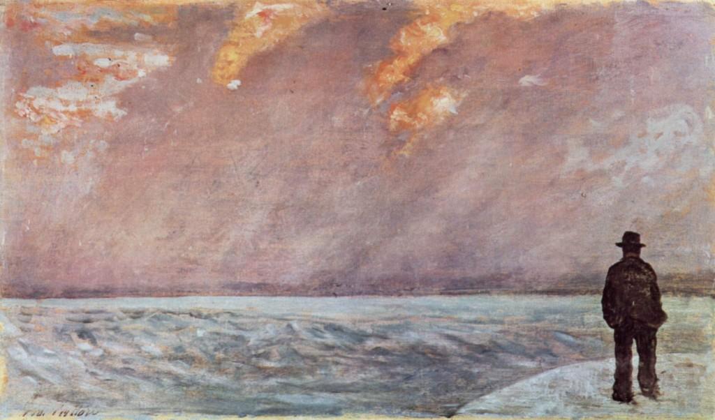 """""""Tramonto sul mare"""" (1890-1895), Giovanni Fattori"""