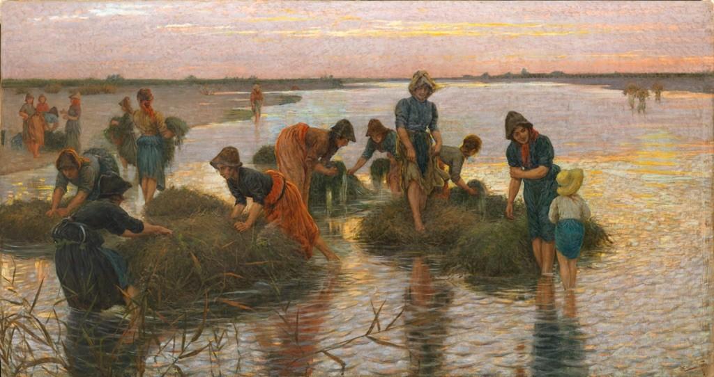 """Le gramignaie al fiume"" (1896), Niccolò Cannicci"