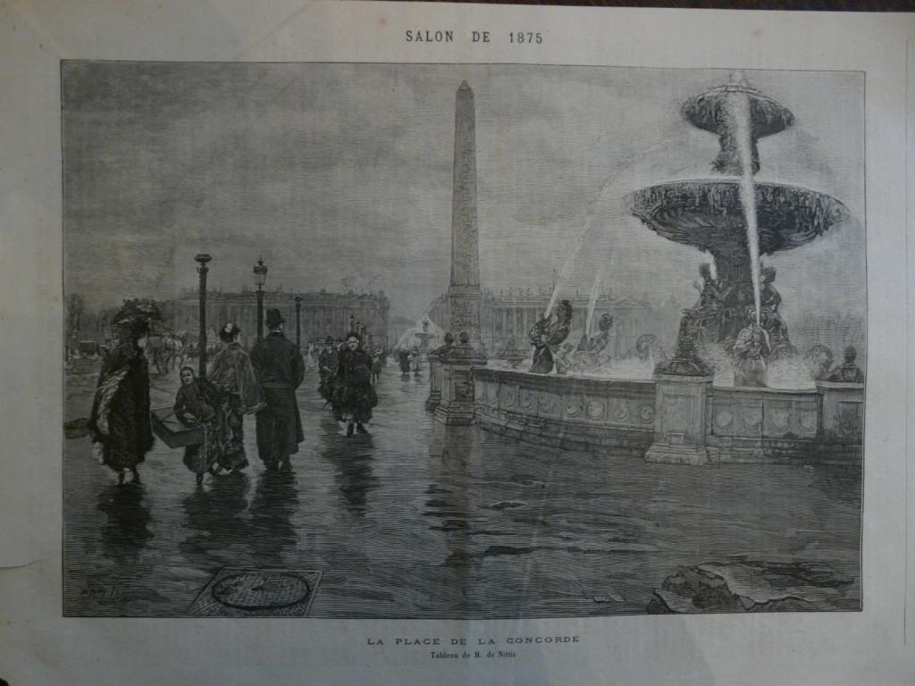 """Place de la Concorde"" (1875) di De Nittis"