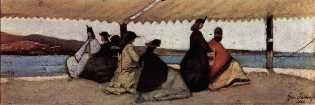 """""""La rotonda di Palmieri"""" (1866), Giovanni Fattori."""