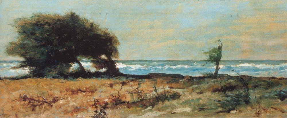"""""""La libecciata"""" (1880-1885), Giovanni Fattori."""