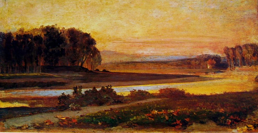 Giovanni Costa - Tramonto sull'Arno