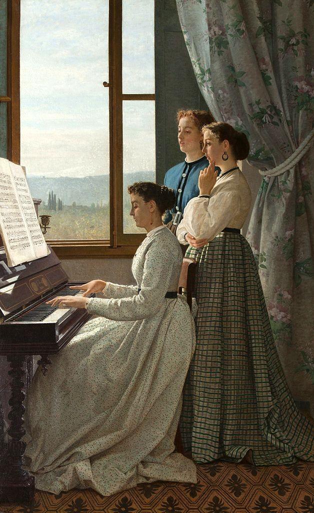 """""""Il canto dello stornello"""" (1867), Silvestro Lega. Galleria Nazionale d'Arte Moderna, Firenze."""
