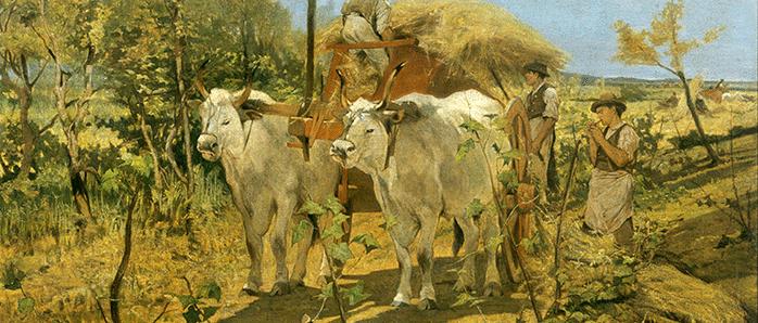 """""""La raccolta del fieno in Maremma"""" (1867-1870) di Giovanni Fattori"""