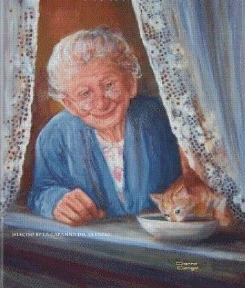 Io non credo all'età. Tutti i vecchi portano negli occhi un bambino e i bambini a volte ci osservano come saggi anziani. _ Pablo Neruda _ Dianne Dengel Art
