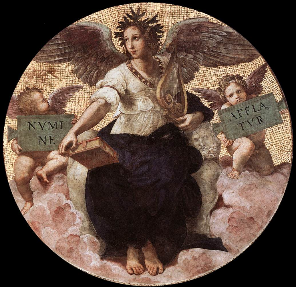 Poesia è un affresco (diametro 180 cm) di Raffaello Sanzio, databile al 1508 e facente parte della decorazione della volta della Stanza della Segnatura nei Musei Vaticani.