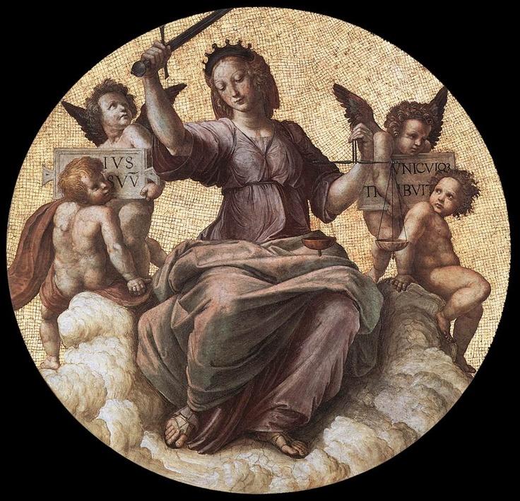 Affresco dal diametro di 180 cm appartenente alla decorazione della volta della Stanza della Segnatura nei Musei Vaticani.
