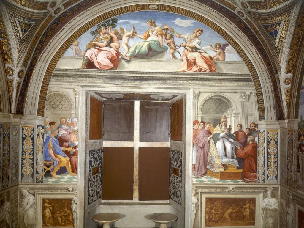 """""""Le virtù"""", Stanze del Vaticano."""