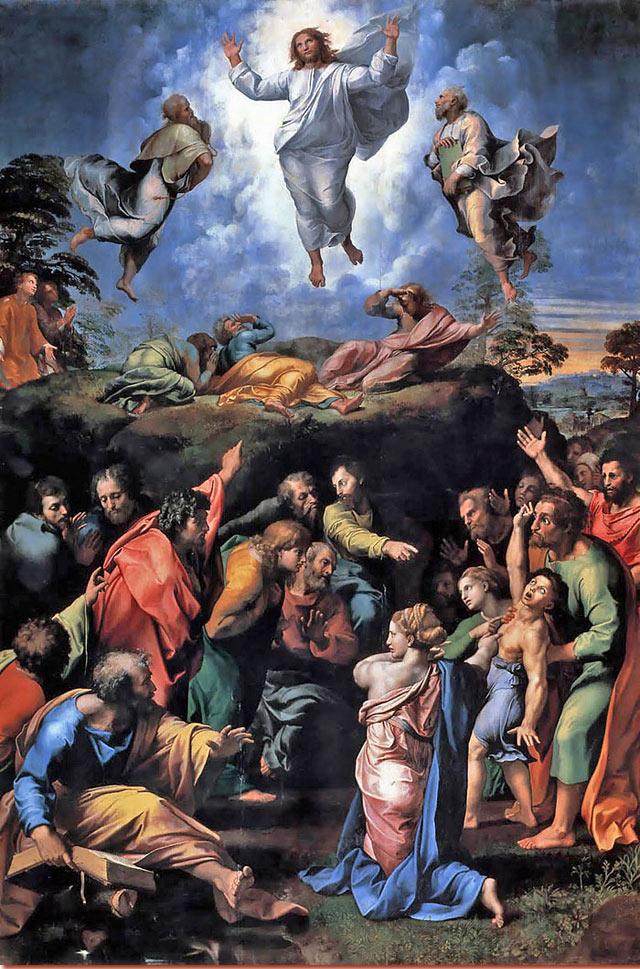"""""""Trasfigurazione"""", 1518-20, Città del Vaticano, Pinacoteca Vaticana."""