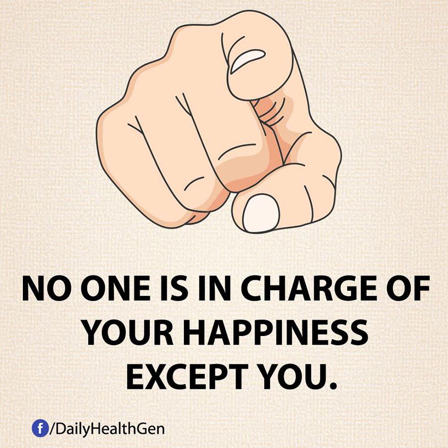 """Nessuno ha potere sulla tua felicità, eccetto te."""""""