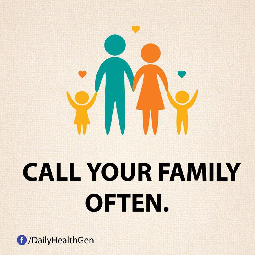 """""""Telefona spesso alla tua famiglia."""""""