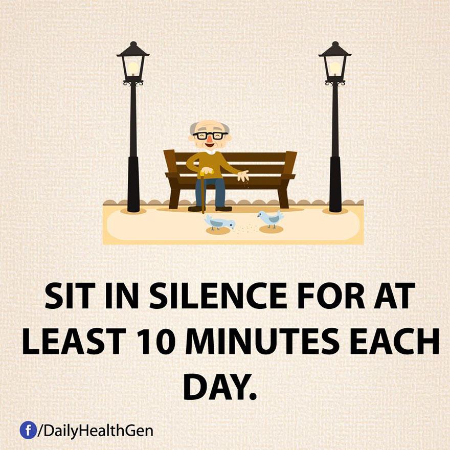 """""""Siediti in silenzio per almeno dieci minuti al giorno."""""""