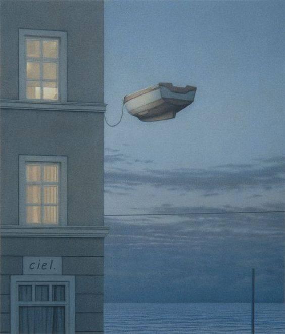"""La cosa più superba è la Notte, quando cadono gli ultimi spaventi e l'anima si getta all'avventura. _ Alda Merini _ """"Window at Night"""", Quint Buchholz"""