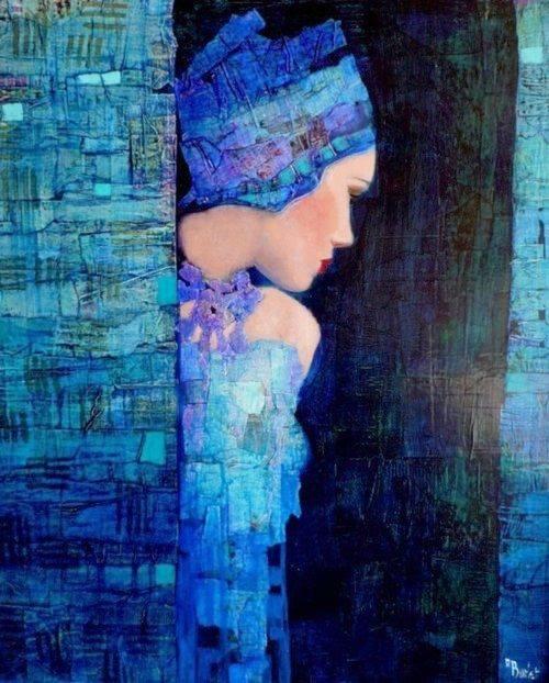 Le persone tristi si riconoscono. Sono quelle che per un attimo parlano, straparlano, dicono cazzate infinite; poi l'attimo dopo le vedi fissare il vuoto, in silenzio, lo sguardo perso, la mente chissà dove. (Cit.) _ Dipinto di Richard Burlet _