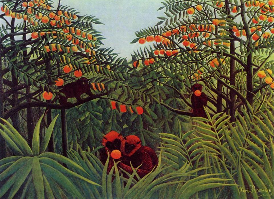 """""""Giungla con scimmie che mangiano arance"""", 1887"""
