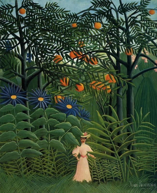 """""""Donna che passeggia in una foresta esotica"""" (1905)"""