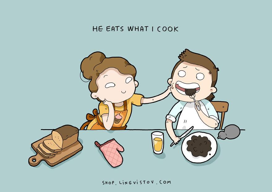 """""""Mangia quello che cucino""""."""