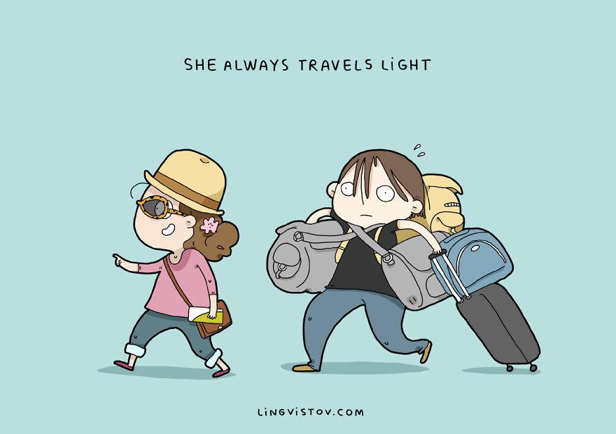 """""""Viaggia sempre leggera""""."""