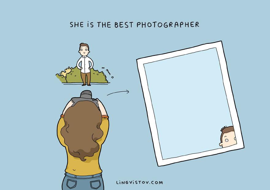 """""""È la migliore fotografa""""."""