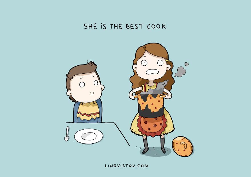 """""""È la migliore cuoca""""."""