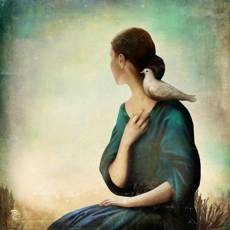 Forse sono stata anche più furba degli altri, mi sono tenuta la parte migliore della vita. L'anima. _ Alda Merini _ 'Another World' by Christian Schloe.