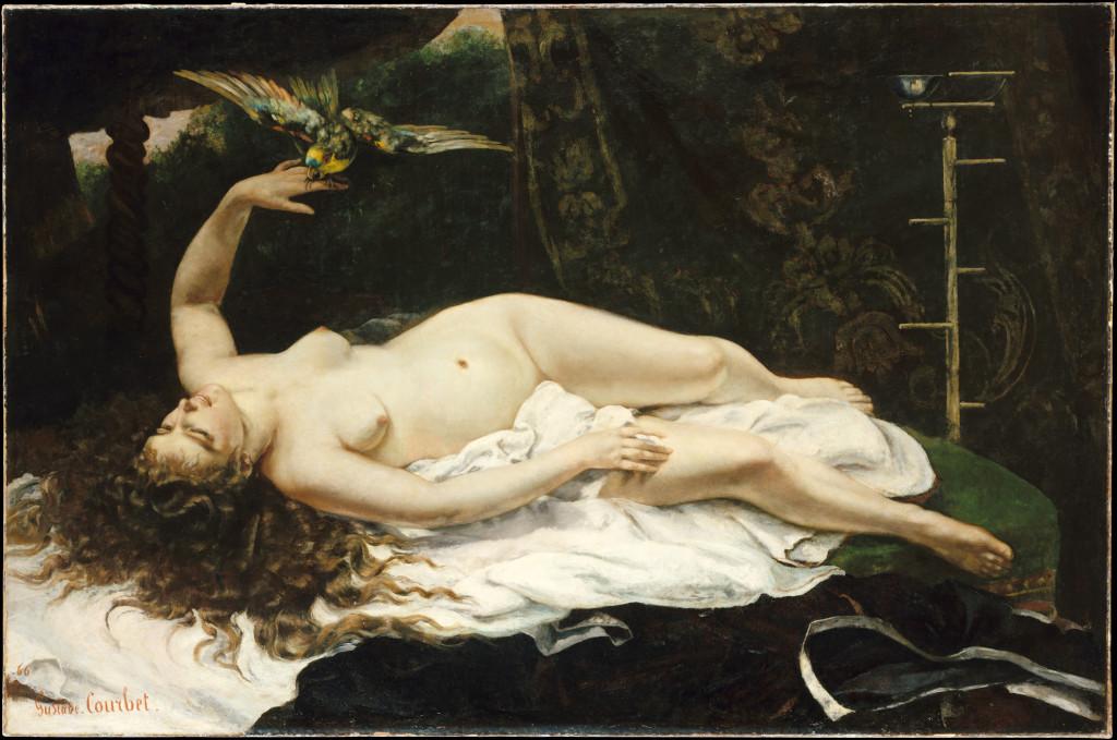 """""""Donna con pappagallo"""" (1866)."""