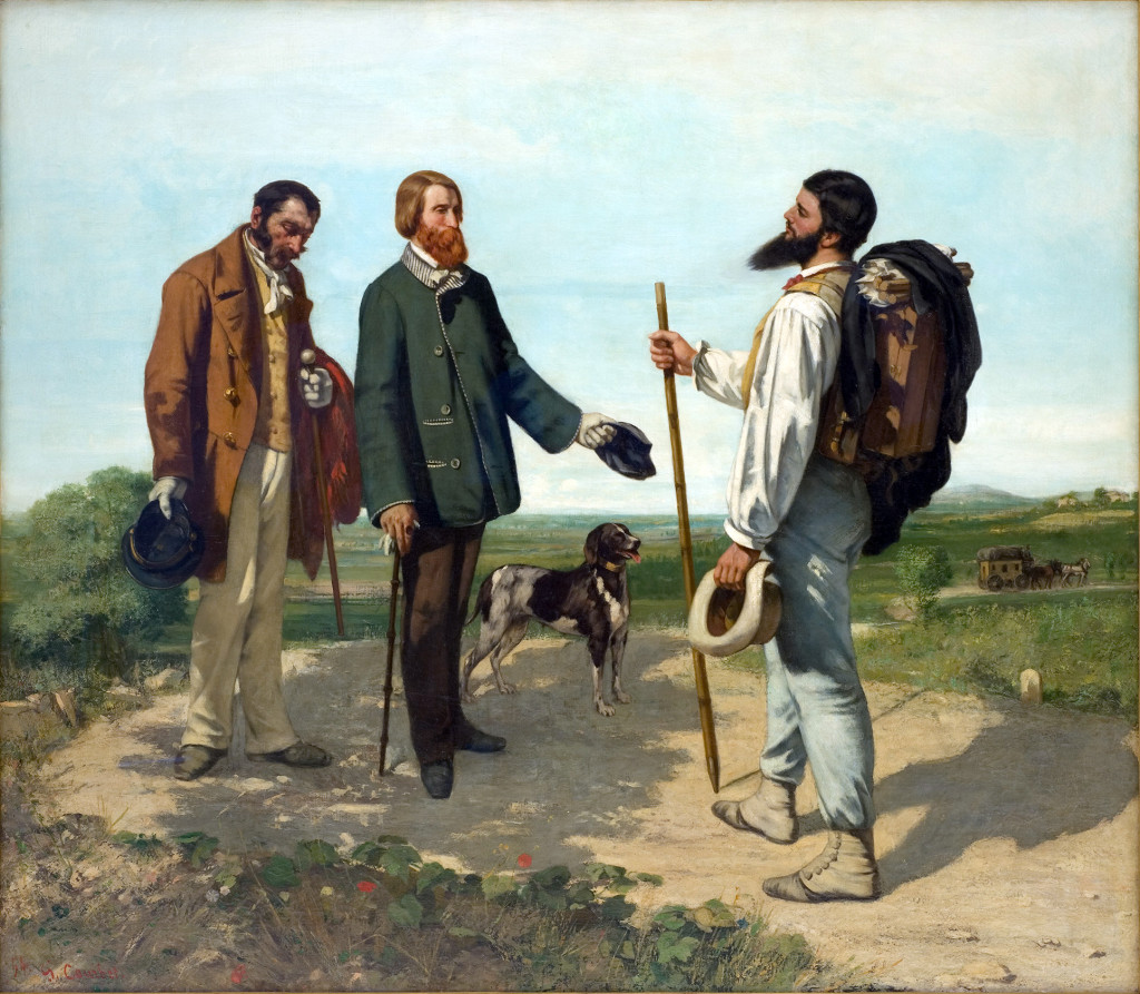 "Gustave Courbet - ""Bonjour Monsieur Courbet"", 1854."