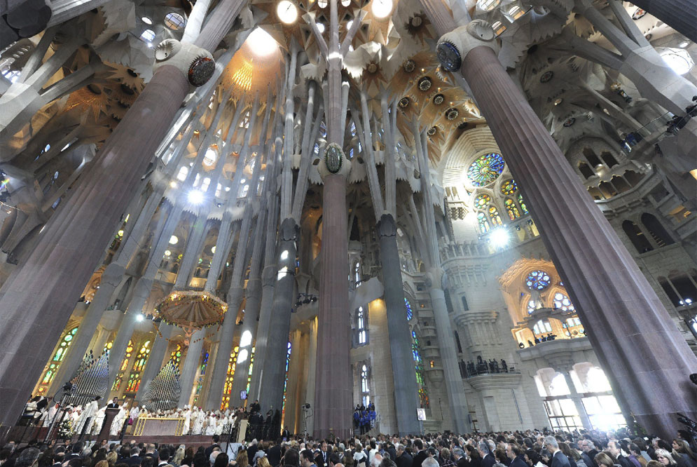 """Sagrada Familia"", Interno."