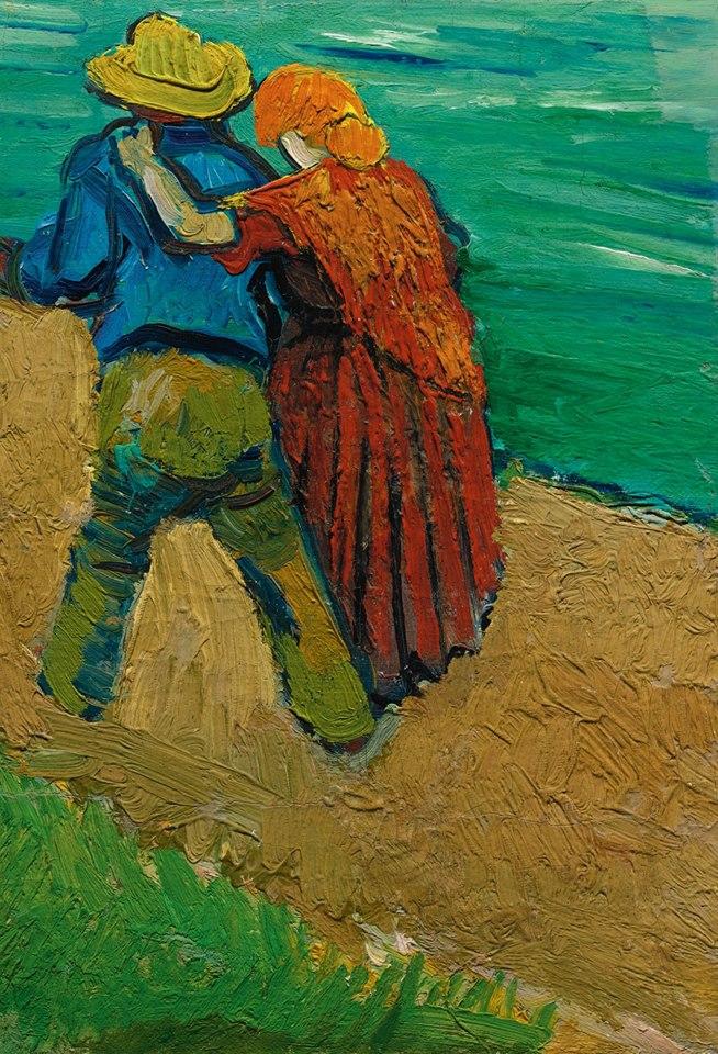 """Credo che sia questo il compito maggiore di un legame fra due persone: che ciascuno sia a guardia della solitudine dell'altro. Perché, se è nella natura dell'indifferenza e della folla non apprezzare la solitudine, l'amore e l'amicizia ci sono proprio allo scopo di offrire continuamente la possibilità di solitudine. E sono vere condivisioni soltanto quelle che interrompono periodicamente periodi di profondo isolamento… L'amore consiste in questo, che due solitudini si proteggono a vicenda, si toccano, si salutano. _ Rainer Maria Rilke _ """"Two Lovers"""", Vincent Van Gogh (Arles, 1888)"""