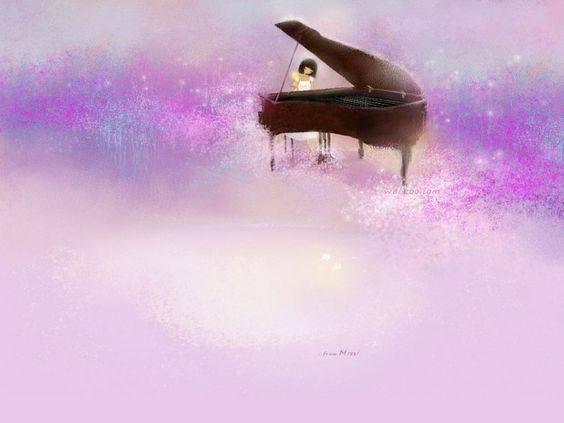 La musica esprime ciò che non può essere detto e su cui è impossibile rimanere in silenzio. _ Victor Hugo _ Mizi Illustration