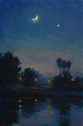 Io amo la luna, assai più del sole. Amo la notte, le strade vuote, morte, la campagna buia, con le ombre, i fruscii, le rane che fanno cra cra, l'eleganza tetra della notte. È bella la notte: bella quanto il giorno è volgare. Io amo tutto ciò che è scuro, tranquillo, senza rumore. La risata fa rumore. Come il giorno. Antonio De Curtis (Totò) Nocturne - Thomas Van Stein