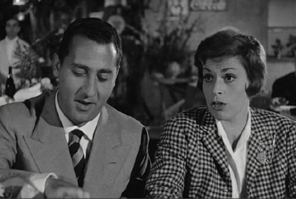 """""""Il vedovo"""" (1959) di Dino Risi. Accanto ad Alberto Sordi recita Franca Valeri."""